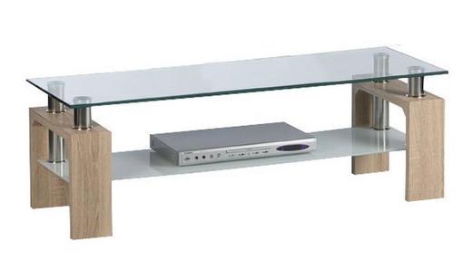 TV ELEMENT - hrast Sonoma, Design, staklo/drvni materijal (120/42/39cm) - Carryhome