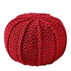 POUF Textilgeflecht Rot - Rot, Design, Textil (50/35/50cm) - Carryhome