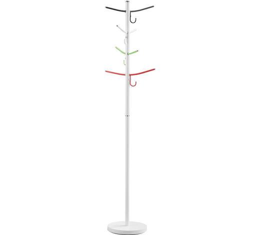 KLEIDERSTÄNDER in Grün, Rot, Schwarz, Weiß  30,5/178 cm  - Rot/Schwarz, Design, Metall (30,5/178cm) - Carryhome