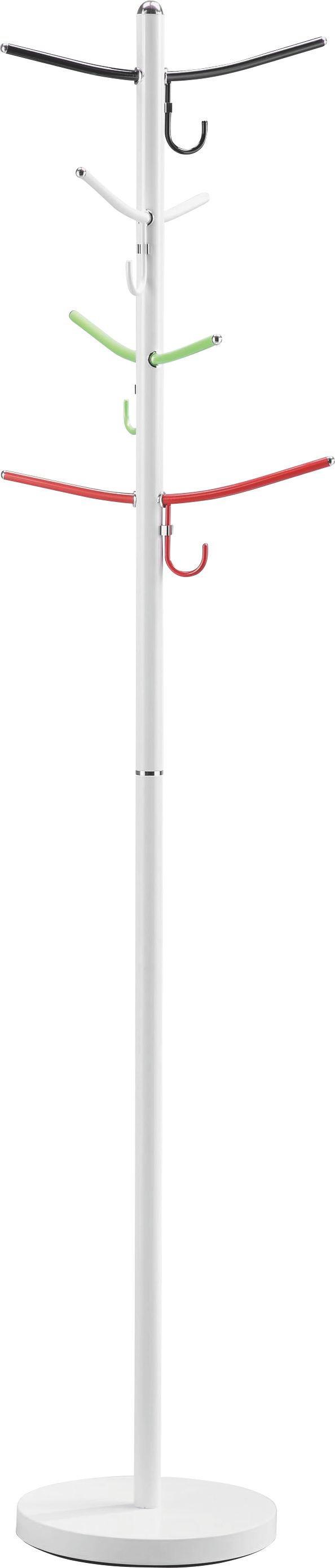 VJEŠALICA SAMOSTOJEĆA - bijela/zelena, Design, metal (30,5/178cm) - BOXXX