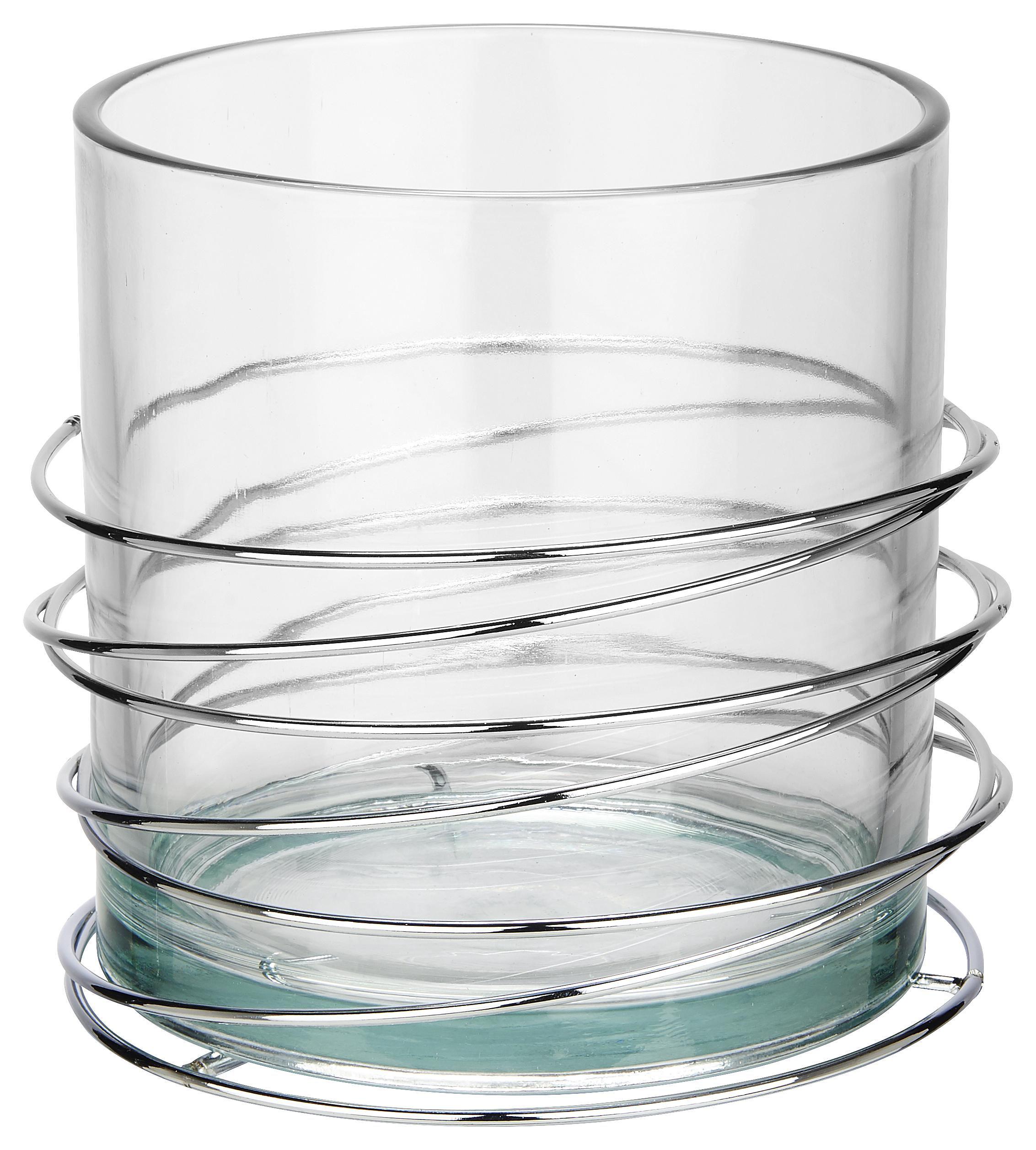 LJUSLYKTA - klar/silver, Design, metall/glas (16,8/15,4cm) - Ambia Home