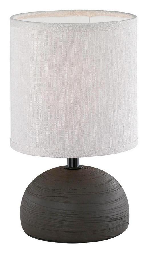 LAMPA STOLNÍ - černá/krémová, Basics, kov/textil (14/23cm) - Boxxx