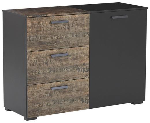 KOMMODE - Schwarz/Braun, Design, Holzwerkstoff/Kunststoff (110/81/42cm) - Carryhome
