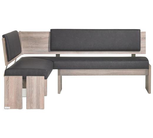 ECKBANK 150/190 cm  in Anthrazit, Eichefarben  - Eichefarben/Anthrazit, KONVENTIONELL, Holzwerkstoff/Textil (150/190cm) - Venda