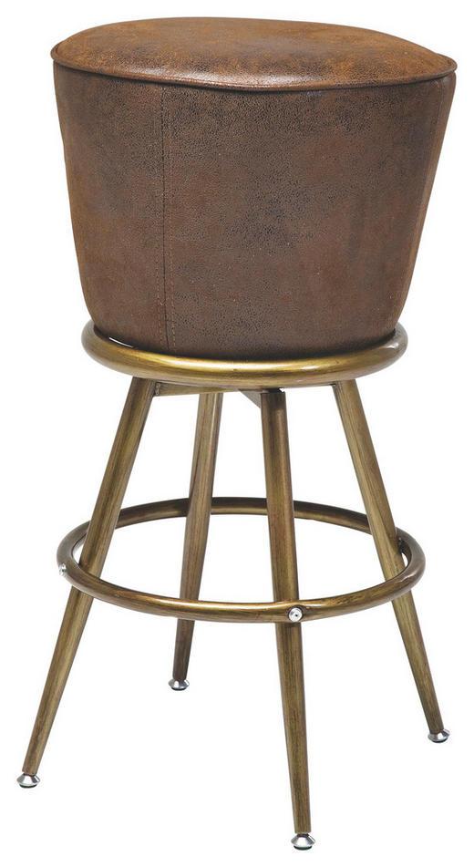TRESENSTUHL Lederlook Braun, Goldfarben - Goldfarben/Braun, Design, Textil/Metall (48/74/48cm) - Kare-Design