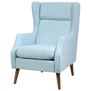 FOTELJ,  svetlo modra les, tekstil - svetlo modra, Design, tekstil/les (68/92/104cm) - Carryhome