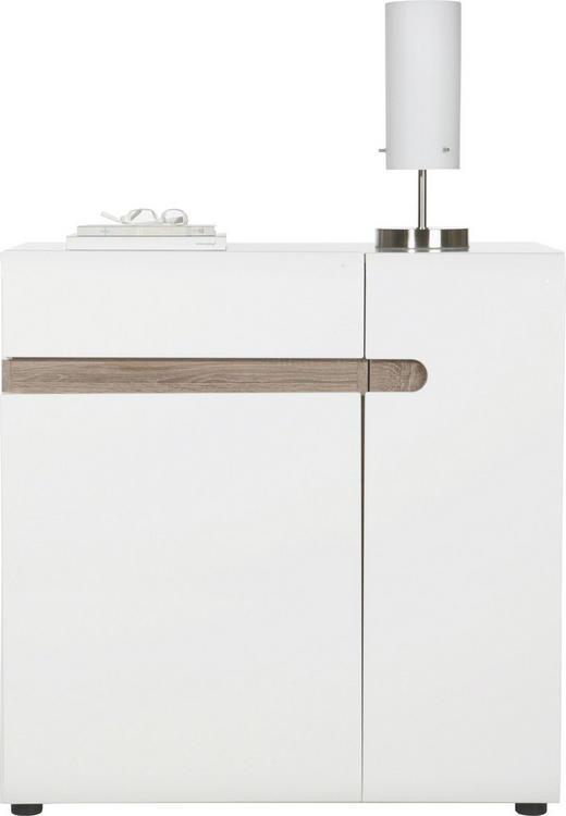 SIDEBOARD - vit/färg tryffelek, Design, träbaserade material (85/87/42cm) - Carryhome