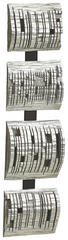 Abstraktes, Strukturen BILD - Silberfarben, Basics, Kunststoff (20/80/8cm) - Monee