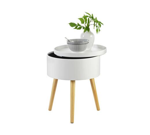BEISTELLTISCH in Naturfarben, Weiß - Naturfarben/Weiß, Design, Holz/Holzwerkstoff (38/48,5/38cm) - Carryhome
