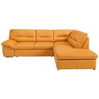 SEDACÍ SOUPRAVA, oranžová, kůže - oranžová/barvy chromu, Design, kov/kůže (270/216cm) - Welnova