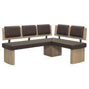 KOTNA KLOP, leseni material, tekstil hrast, rjava - hrast/rjava, Natur, leseni material/tekstil (180/140cm) - Cantus