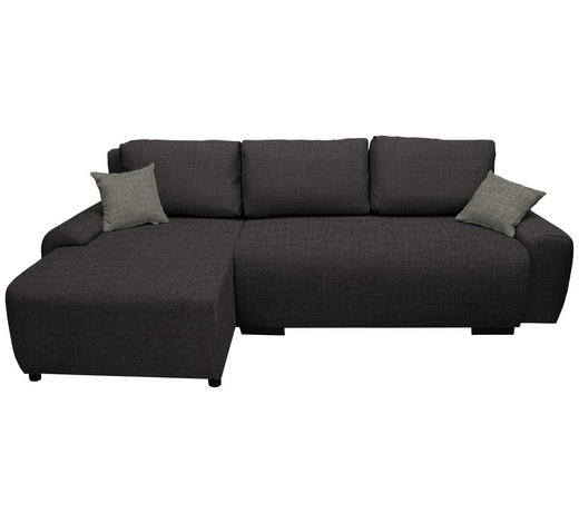 WOHNLANDSCHAFT in Textil Dunkelgrau - Dunkelgrau/Hellgrau, Design, Kunststoff/Textil (133/240cm) - Ti`me