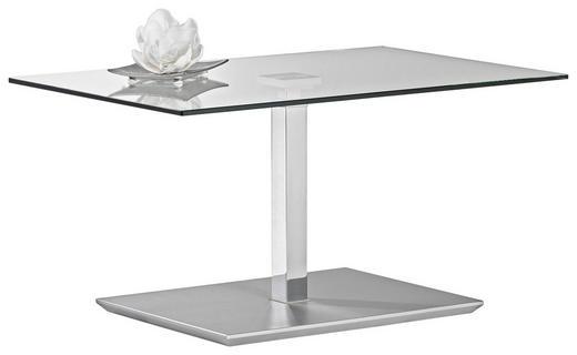 COUCHTISCH rechteckig Chromfarben - Chromfarben, Design, Glas/Kunststoff (90/60/44-60cm)