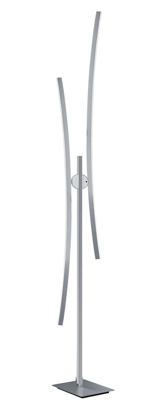 LED-STEHLEUCHTE - Alufarben/Weiß, Design, Kunststoff/Metall (163cm) - Dieter Knoll