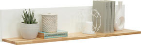 VÄGGHYLLA - vit/ekfärgad, Design, trä/träbaserade material (104/20/20cm) - Hom`in