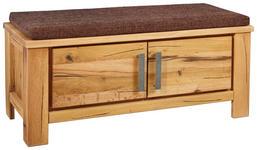 GARDEROBENBANK 100/40/40 cm - Eichefarben/Braun, Natur, Holz/Textil (100/40/40cm) - Linea Natura