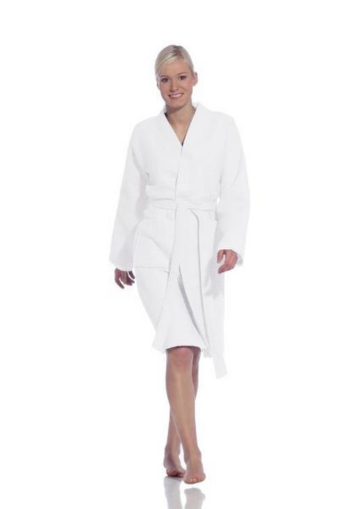 DAMENKURZBADEMANTEL XL  Weiß - Weiß, Basics, Textil (XL) - VOSSEN
