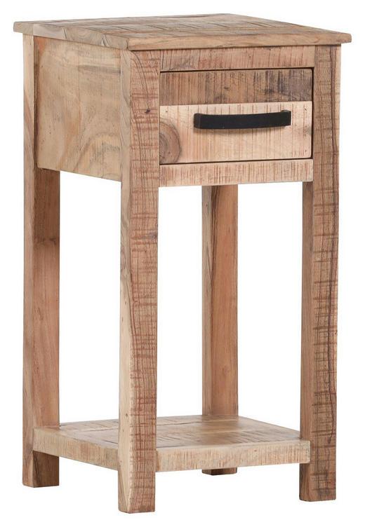 BEISTELLTISCH Akazie massiv rechteckig Akaziefarben - Akaziefarben, LIFESTYLE, Holz (32/60/32cm) - Hom`in