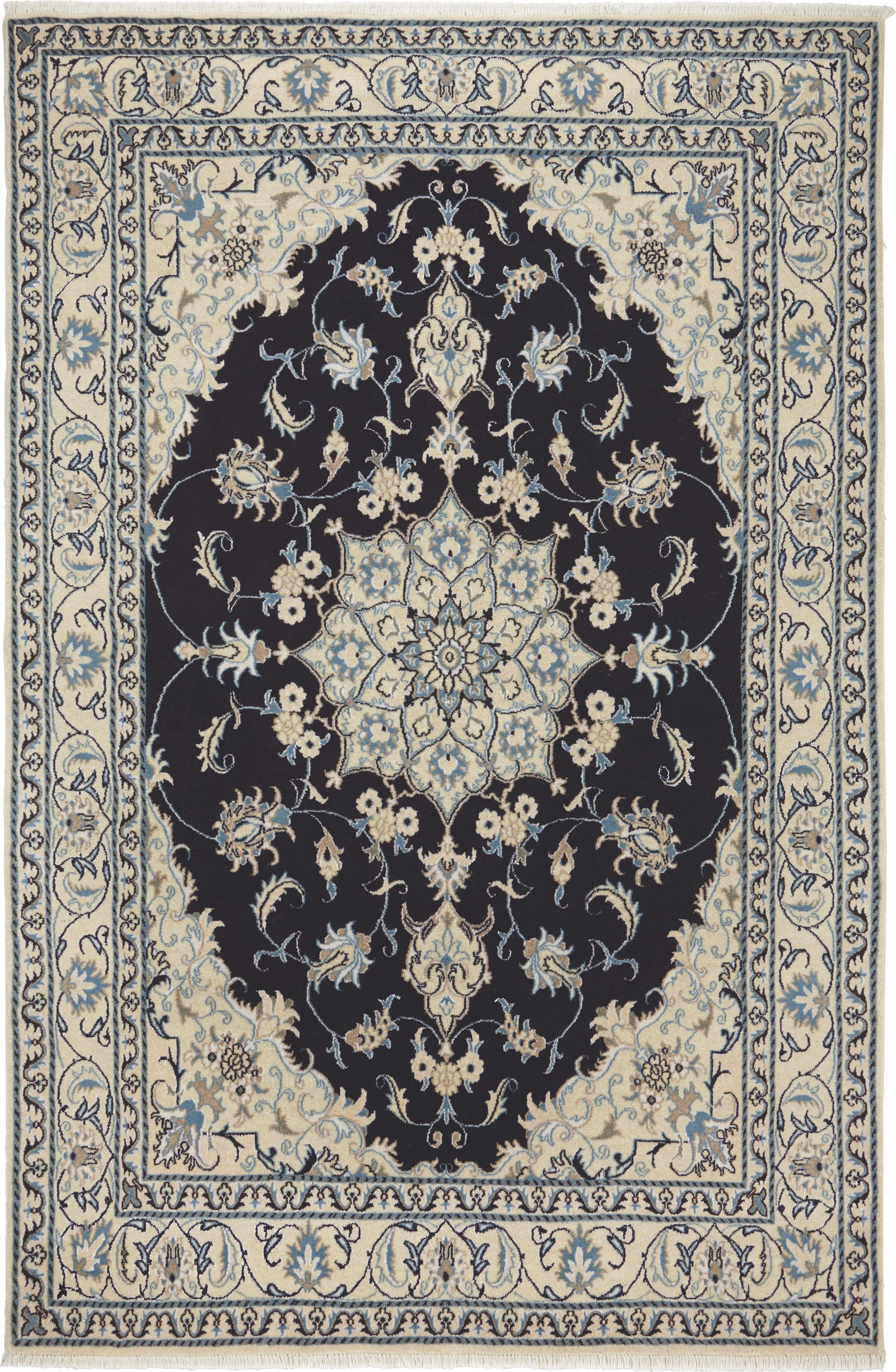 ORIENTALISK MATTA - blå, Klassisk, ytterligare naturmaterial (170/240cm)