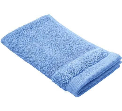 GÄSTETUCH 30/50 cm - Blau, Natur, Textil (30/50cm) - Bio:Vio