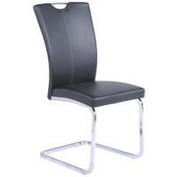 SCHWINGSTUHL-SET Lederlook Chromfarben, Grau - Chromfarben/Beige, Design, Textil/Metall (41/95/58cm) - XORA