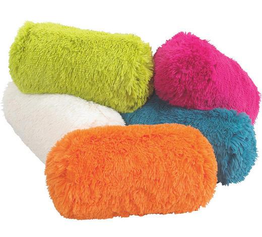 OVÁLNÝ POLŠTÁŘ, 19/43 cm, krémová, zelená, oranžová, pink, petrolej - oranžová/petrolej, Trend, textil (19/43cm) - Boxxx