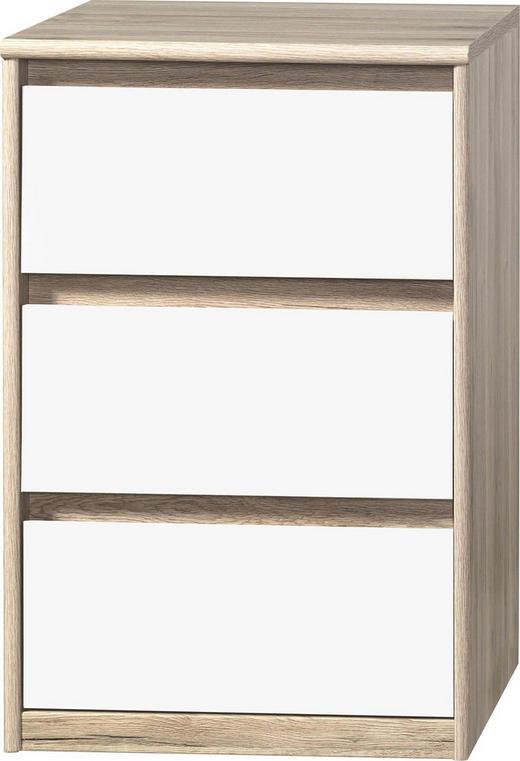 KOMMODE Eichefarben, Weiß - Eichefarben/Weiß, Design, Holzwerkstoff (55/84/45cm) - Cs Schmal