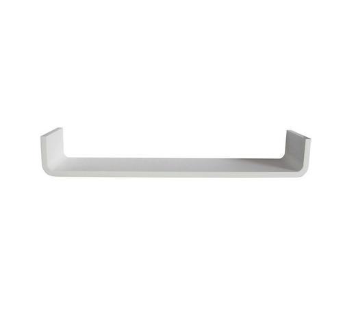 POLICA ZIDNA bijela  drvni materijal  - bijela, Design, drvni materijal (80/12/18cm) - Boxxx