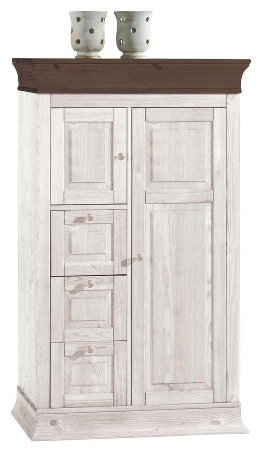 KOMMODE Kiefer massiv Dunkelbraun, Weiß - Dunkelbraun/Weiß, Design, Holz (90.5/151.5/45cm) - Carryhome