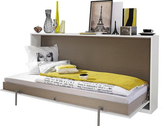 KLAPPBETT 90/200 cm - Weiß, Design (90/200cm) - Carryhome