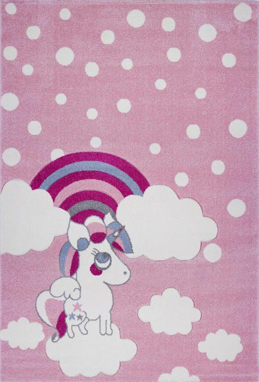 KINDERTEPPICH  160/230 cm  Lila, Rosa, Weiß - Lila/Rosa, Textil (160/230cm)