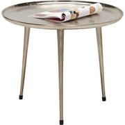 Beistelltisch in Nickelfarben - Nickelfarben, Design, Metall (58/48cm) - Xora