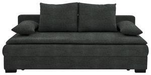 SCHLAFSOFA in Textil Anthrazit  - Anthrazit/Schwarz, KONVENTIONELL, Kunststoff/Textil (207/74-94/90cm) - Venda