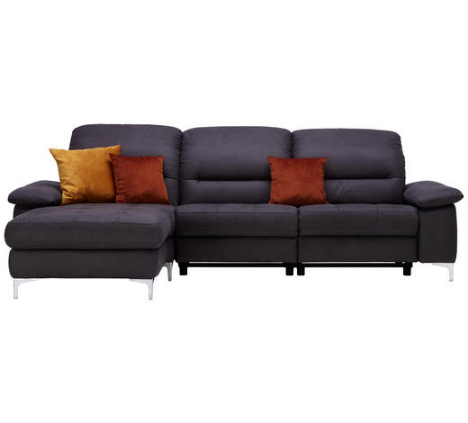 WOHNLANDSCHAFT in Textil Anthrazit  - Anthrazit, Design, Textil (184/280cm) - Pure Home Comfort