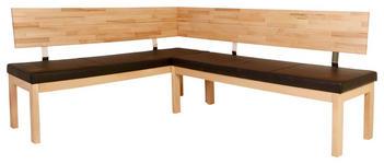 ECKBANK in Holz, Textil Braun, Buchefarben - Buchefarben/Braun, Natur, Holz/Textil (171/248cm) - Voleo