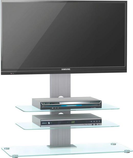 TV-ELEMENT Alufarben - Alufarben, Design, Glas/Metall (90/104/40cm)