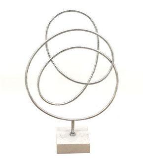 SKULPTUR - silver, Design, metall/sten (33/50/12cm) - Ambia Home