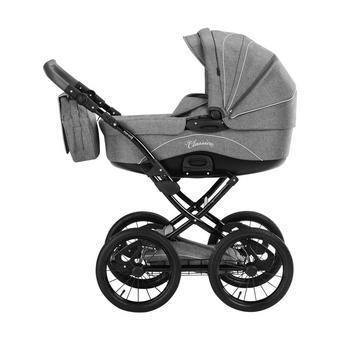 Classico  Knorr-Baby Kinderwagenset  Hellgrau - Hellgrau/Schwarz, Basics, Textil/Metall (110/60/107cm)