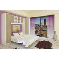 SPAVAĆA SOBA - bijela/hrast Sonoma, Design, drvni materijal (255/215/203cm) - BOXXX
