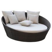 SONNENINSEL - Beige/Dunkelbraun, Design, Kunststoff/Textil (180/180/75cm) - Ambia Garden