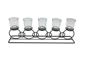 LJUSSTAKE - bärnstensfärgad/svart, Lifestyle, metall/glas (43,5/8/15,5cm) - Ambia Home