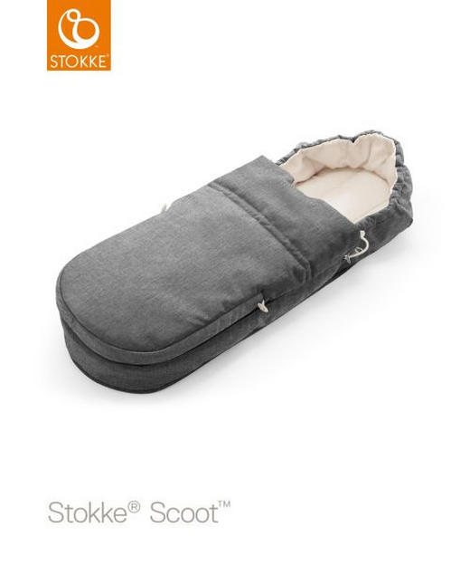 FUßSACK - Grau, Design, Textil/Weitere Naturmaterialien (85/30/13cm) - Stokke