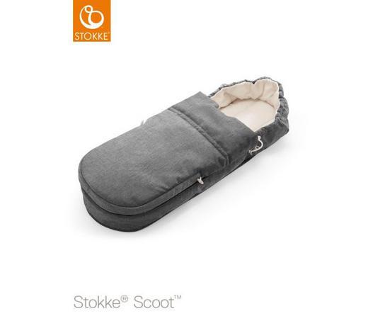 FUßSACK - Grau, Design, Weitere Naturmaterialien/Textil (85/30/13cm) - Stokke