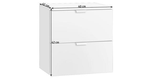 NACHTKÄSTCHEN in Weiß - Alufarben/Weiß, Design, Holzwerkstoff/Metall (40/42/42cm) - Hom`in