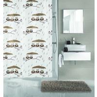 Duschvorhang - Taupe, KONVENTIONELL, Textil (180/200cm) - Kleine Wolke