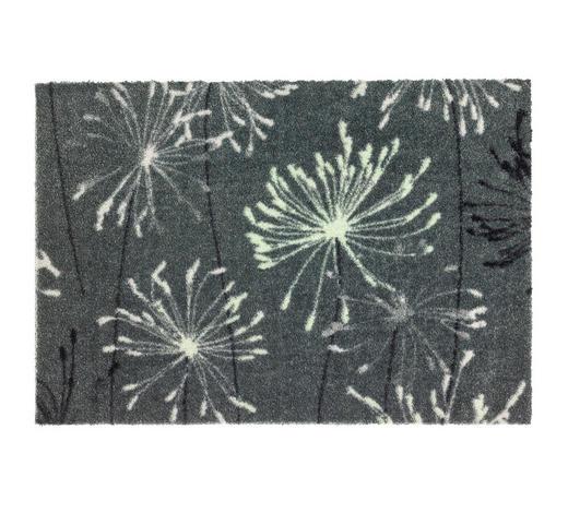 FUßMATTE 67/100 cm  - Grau/Mintgrün, KONVENTIONELL, Textil (67/100cm) - Schöner Wohnen