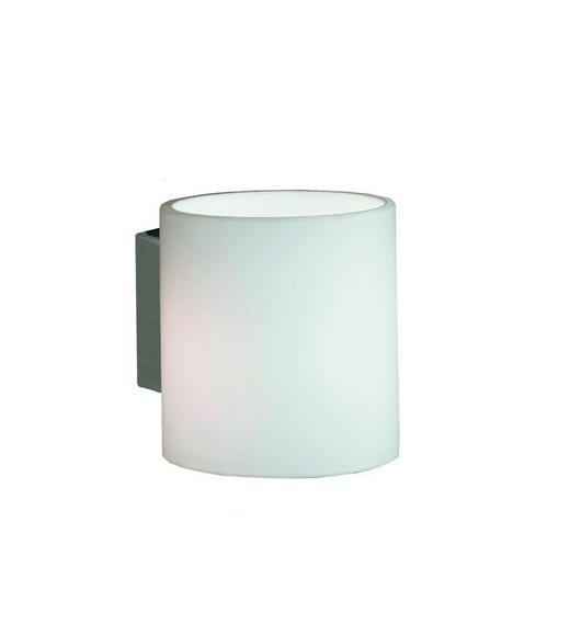 WANDLEUCHTE - Weiß/Nickelfarben, KONVENTIONELL, Metall (8/9/10cm)