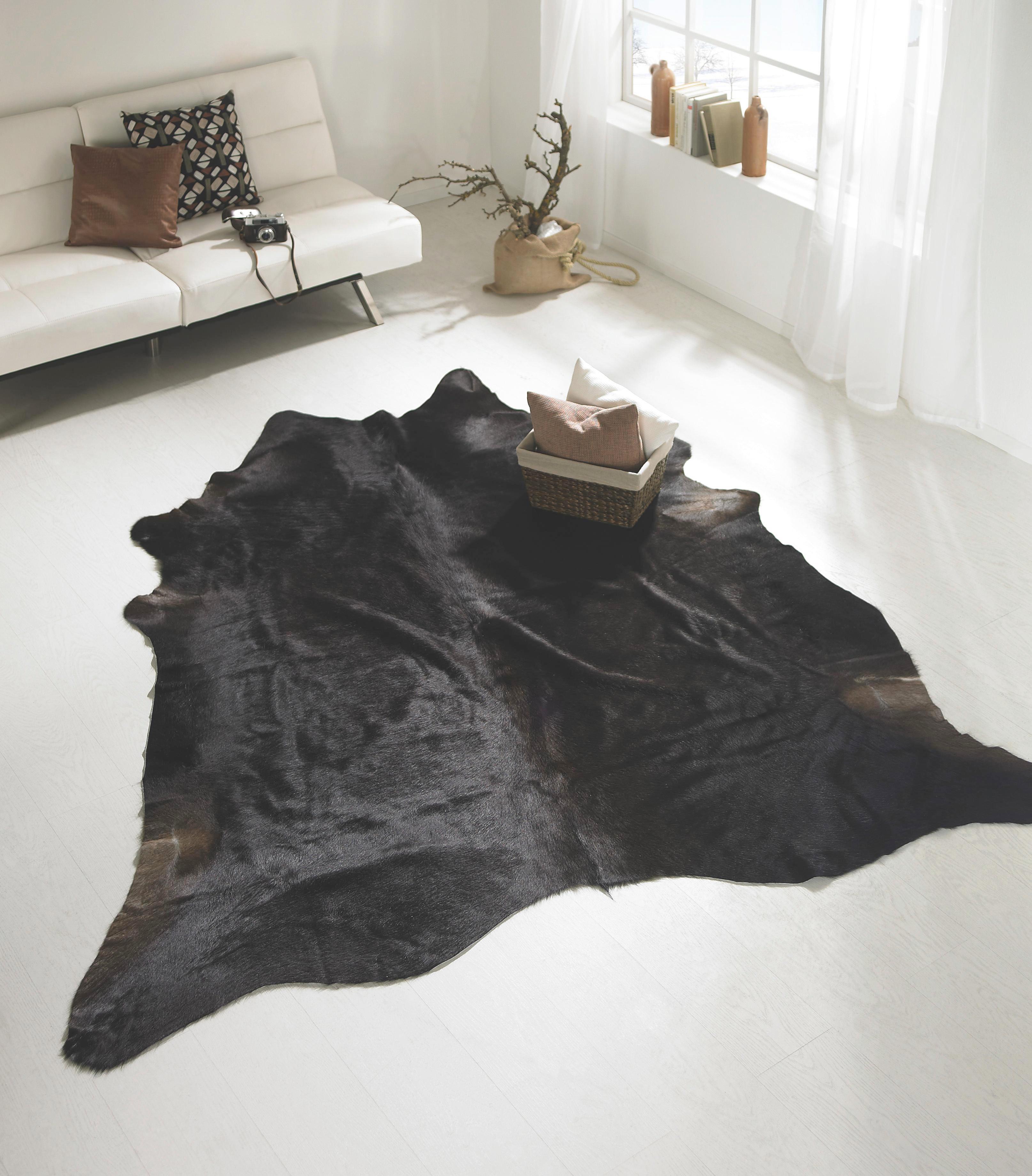 KŮŽE HOVĚZÍ - černá/hnědá, Lifestyle, textil/kůže (2-4,5qm) - LINEA NATURA