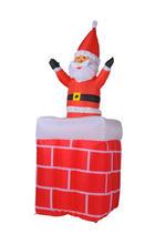 Weihnachtsmann aufblasbar  Rot, Weiß - Rot/Weiß, Kunststoff (42/42/180cm)