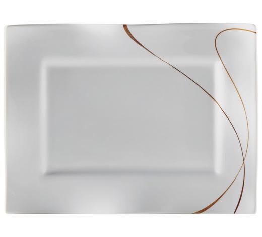 PLATTE 22X30CM - Braun/Weiß, Design, Keramik (30/22/2cm) - Ritzenhoff Breker